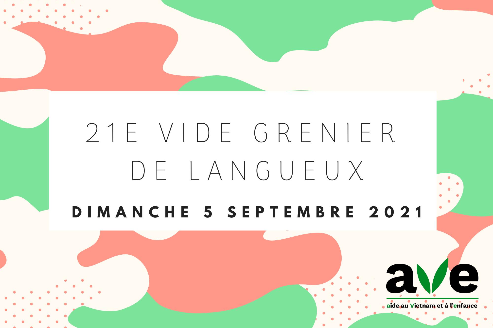 Annonce du vide grenier de Langueux 2021