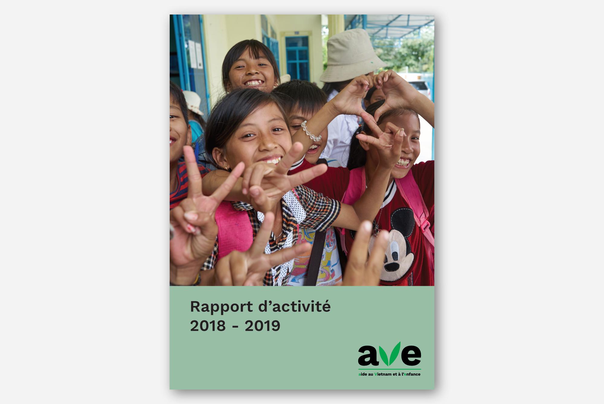 Couverture du rapport d'activité 2018-2019