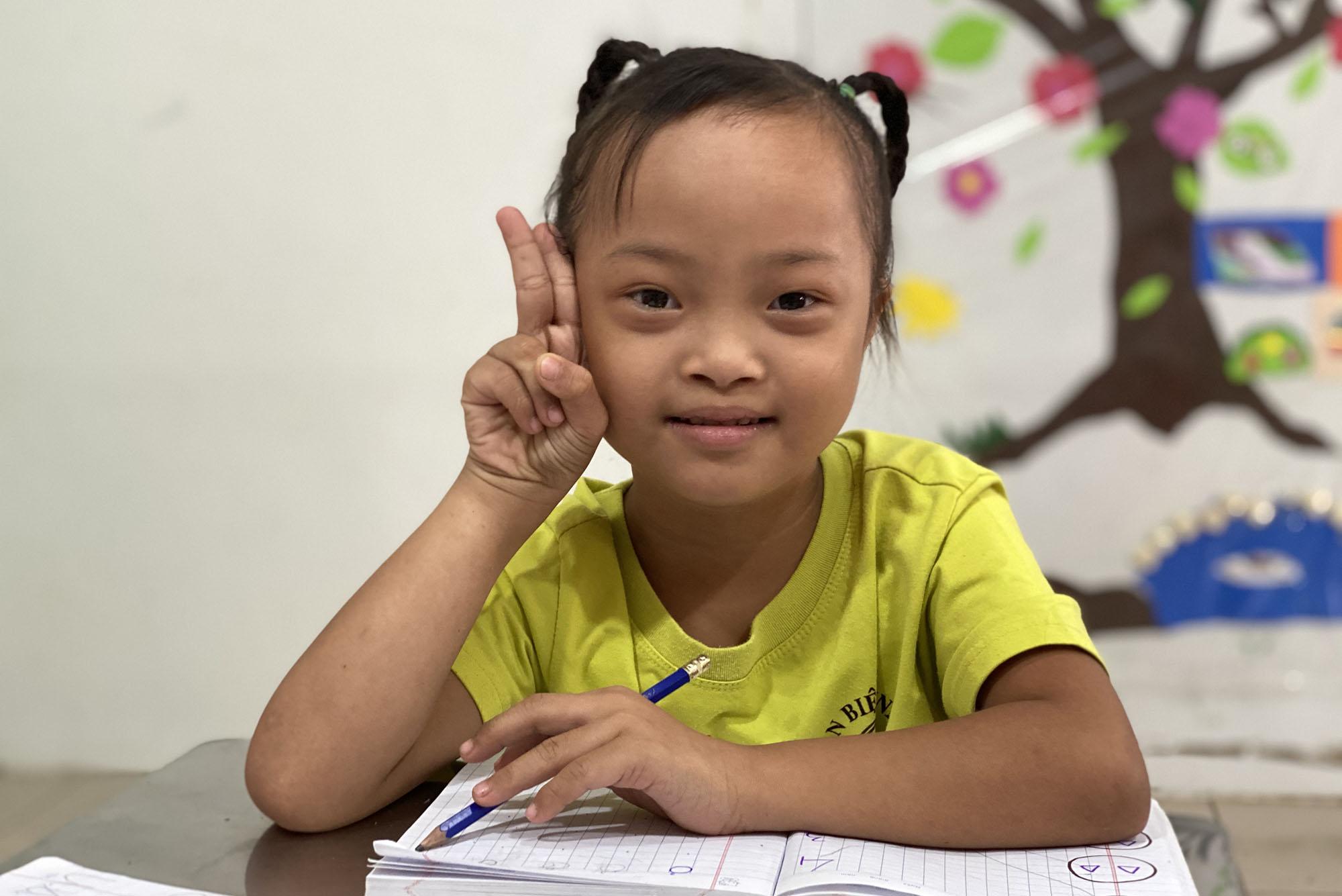 Diem en classe à Suoi Nho